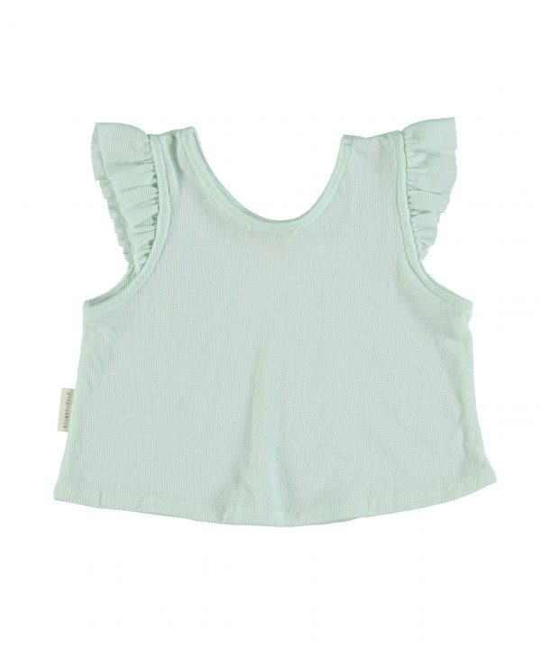 piupiuchick sleeveless t-shirt greenwater