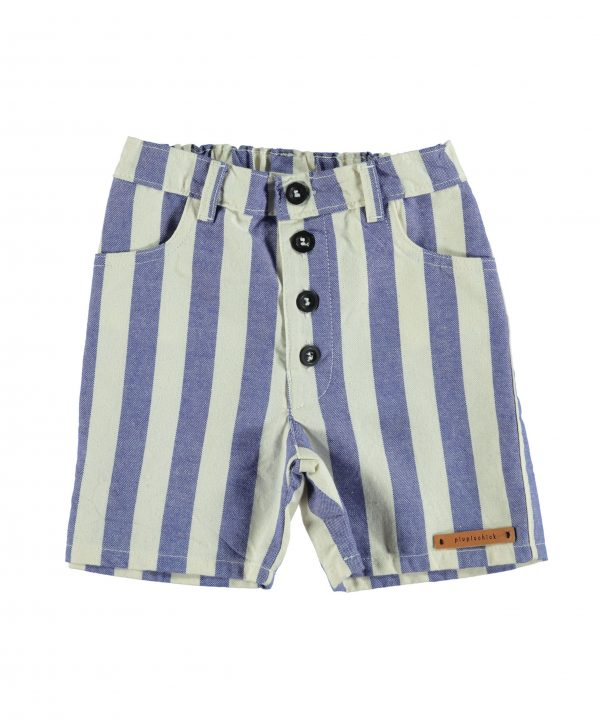 piupiuchick shorts blue stripes