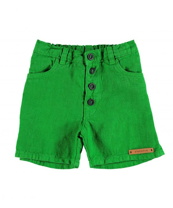 piupiuchick boys shorts linen green