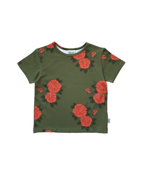 One day Parade t-shirt green roses