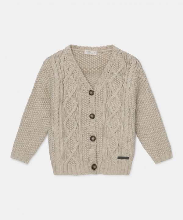 My Little Cozmo Cable Knit Cardigan